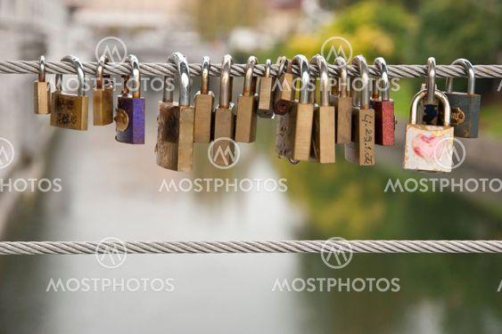 Love Locks on the Fence