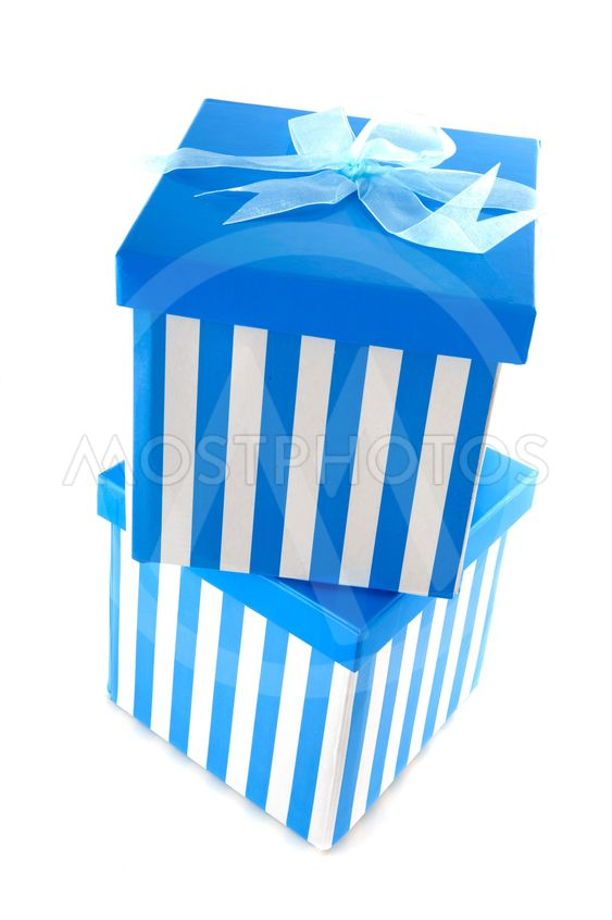 Blue striped presents