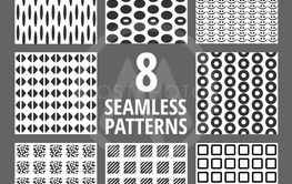 Geometric shapes. Vector seamless pattern set - Vector