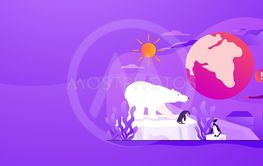 Global warming web banner concept.