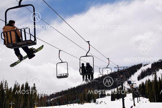 Skiers at Colorado Ski Resort