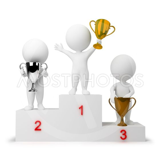 3d small people - rewarding of winners