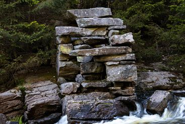 Stone foundation of old mill