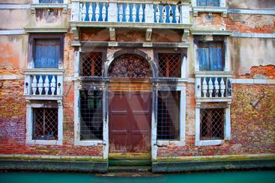 italy,venice : san marco, gran canale under the rain