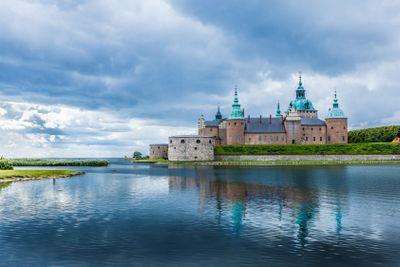 Historical Kalmar castle in Sweden Scandinavia Europe....