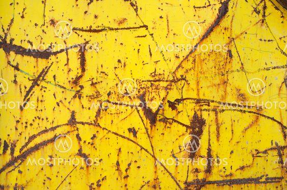 Grungy rostiga gul metall bakgrund