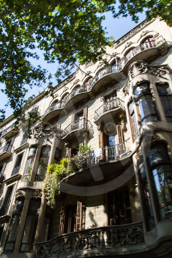 Old beautiful architecture Barcelona (Spain)