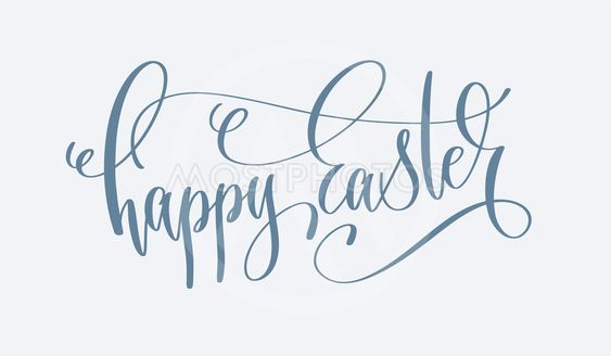 happy easter - hand lettering holiday inscription text