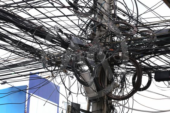 Messy Cable Electricity Post By User 57720 Mostphotos