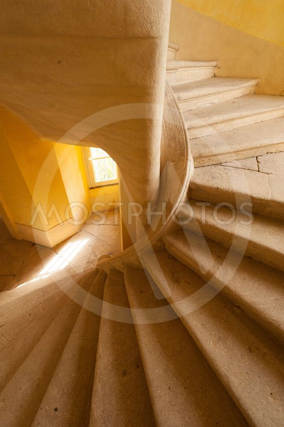 Spiral staircase in stone