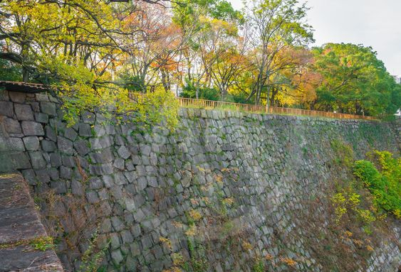 Stone wall texture background .