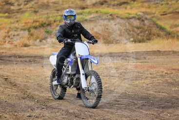 Motocross rider on a motorcycle