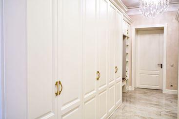 Classic wardrobe and interior door in contemporary...