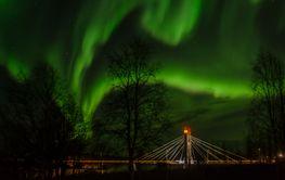 Northern Lights (aurora borealis) in October, northern...