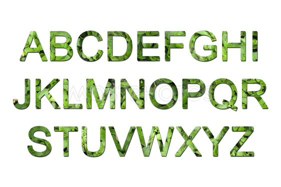 Vihreä eco fontin