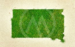 South Dakota Grass Map