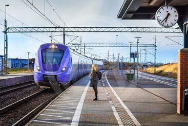 Pågatåg ankommer Landskrona