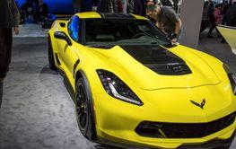 DETROIT - JANUARY 17 :The 2017 Chevrolet Corvette at The...