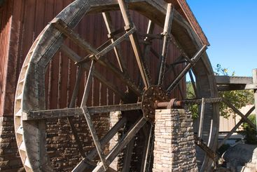 Mill Wheel with Lights