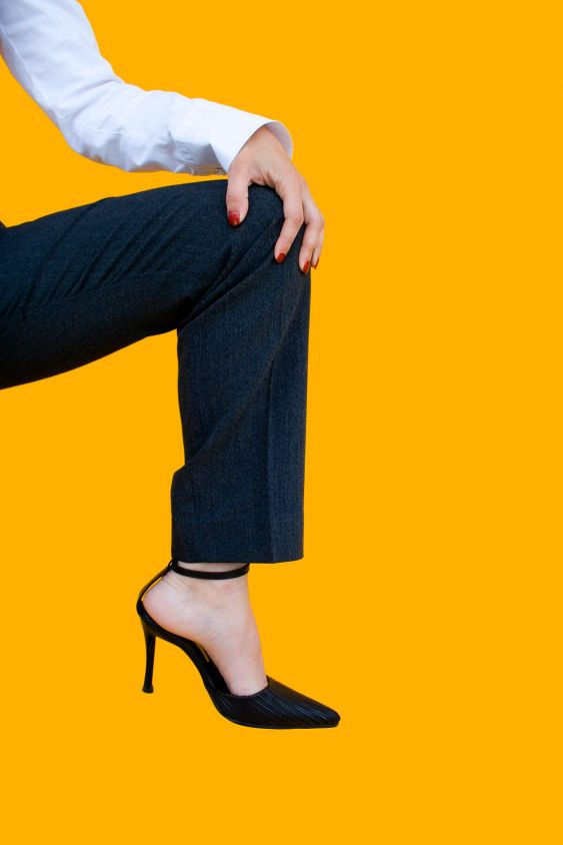 Businesswomans leg