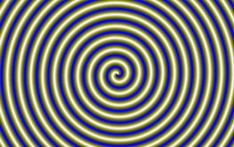 Spiral Pipe in Gold and Blue