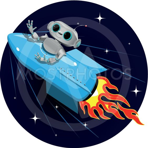 robotti tilaa-Rocket