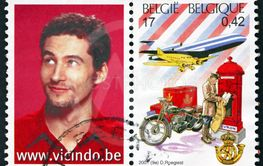 Postage stamp Belgium 2001 postman from 20th century