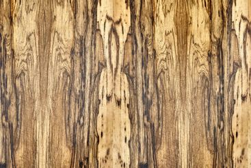 Texture of Black Ofram natural veneer as background closeup