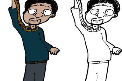 Man Hanging Himself