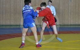 Orenburg, Russia - February 23, 2019: Boys competitions...