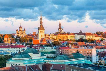 Cityscape of Tallinn in Estonia