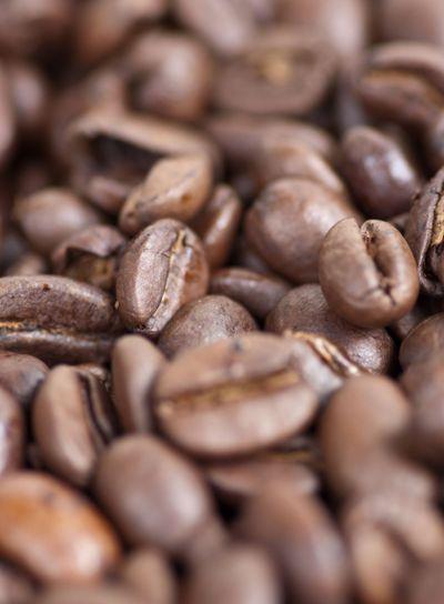 Coffee beans closup