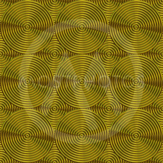 Decorative circles with grooves,golden color.