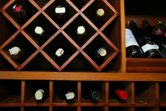wines in the storage