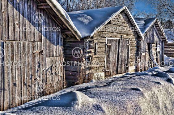 Eksperimentere - gamle boathouses