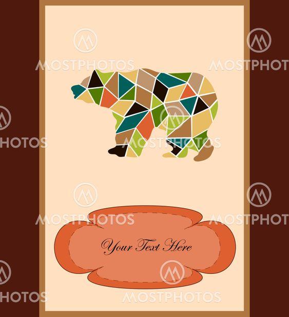 Mosaic bear