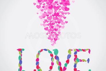 Love background. May be used for valentine card, wedding...