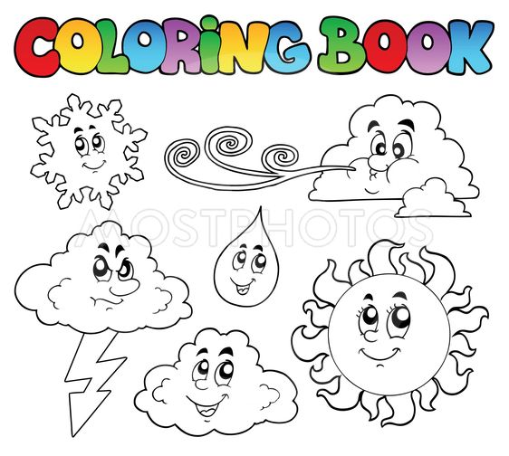 Coloring book with weather...\
