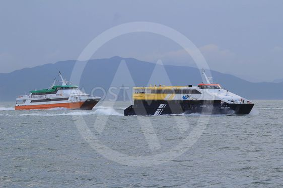 the First Ferry Local service around hongkong island .
