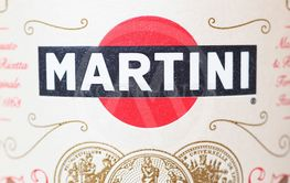 TURIN - AUG 2019: Martini sign on bottle label