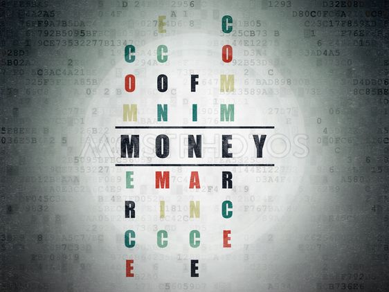 Money concept: Money in Crossword Puzzle