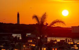 Small marina at sunrise. Port Carro, Marseille, France.