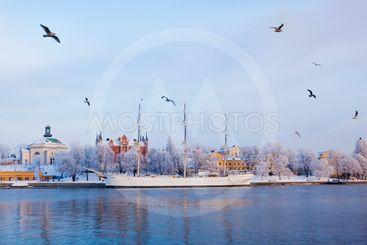 Stockholm City at winter