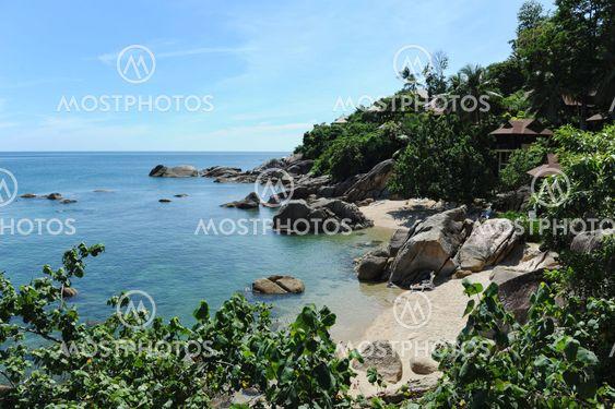 Tropical Lamai beach, Thailand