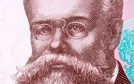Mykhailo Hrushevsky a portrait from Ukrainian money