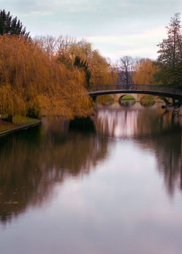 University of Cambridge, view of river Cam from Clare...