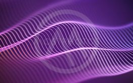 3D Sound waves with color dots. Big data abstract...