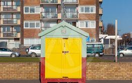 Colorful Brighton beach hut