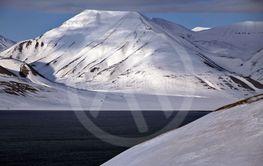 Snölandskap på Svalbard