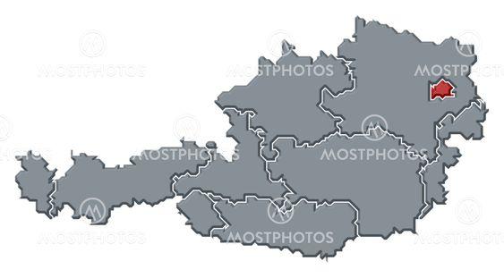 Map Of Austria Vienna High By Steffen Hammer Mostphotos